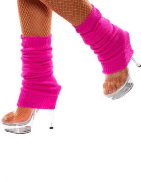 80s Leg Warmers - Hot Pink